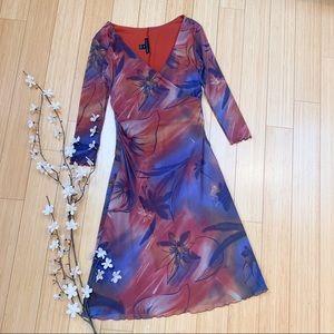 Anthropologie WESTON WEAR watercolor dress, S.